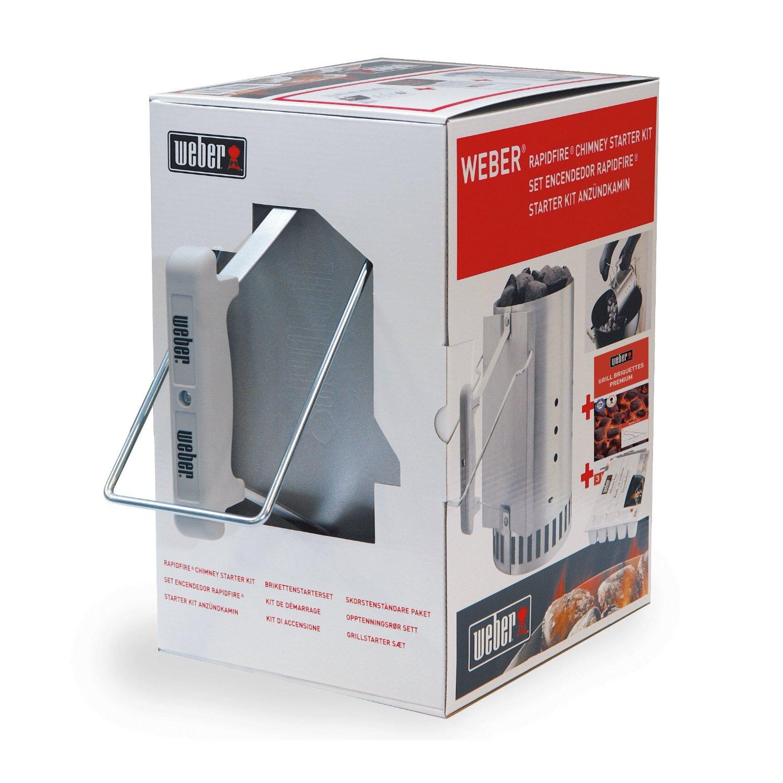 weber anz nd set mit anz ndkamin anz ndw rfel und premium briketts. Black Bedroom Furniture Sets. Home Design Ideas